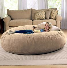 Delicieux Jaxx 6 Foot Cocoon Large Bean Bag Chair For Adults Camel * You Can Find  More Details By Visiting The Image Link.