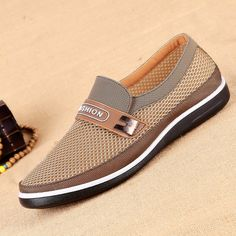 Men Breathable Wear-resistant Soft Sole Slip On Casual Shoes - NewChic