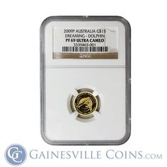 2009 Australia Dreaming Dolphin 1/10 oz Proof Gold - NGC PF69 http://www.gainesvillecoins.com/