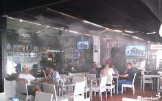 Sistema de Nebulización Masterkool España en la terraza de un restaurante. #nebulización #terrazas #MasterkoolEspaña #hostelería