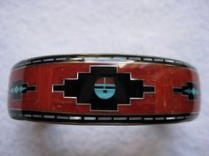 Vintage Coral and Silver Bracelet by Navajos Mary Morgan and Herman Charley