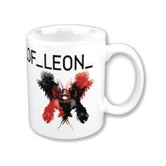 Taza de cerámica apta para microondas. Ilustraciones del grupo musical Kings of Leon