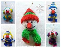 BAŁWANKI na choinkę - MadelinART - Dekoracje bożonarodzeniowe