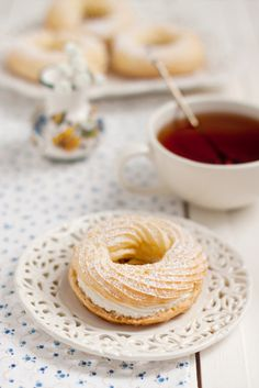 choux rings with curd cream