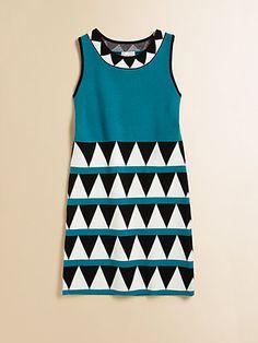Milly Minis - Girl's Geometric Shift Dress I like these geometrics.