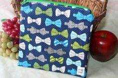 Items similar to Zippered Sandwich Bag - Bowties on Etsy Sandwich Bags, Sandwiches, Bowties, Etsy Shop, Zipper, Stuff To Buy, Tie Bow, Bows, Zippers