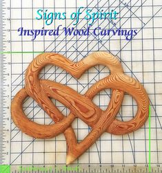 Heart of Infinite Love Wood carved Heart and Infinity Ribbon