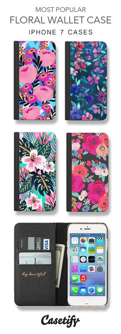 Most Popular Floral iPhone 7 Cases & iPhone 7 Plus Cases here > https://www.casetify.com/collections/iphone-wallet-cases#/