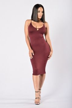 - Available in Olive and Burgundy - V Neckline - Lace Up Criss Cross Back - Midi…