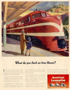 transpress nz: American Locomotive Company diesel advert, 1944