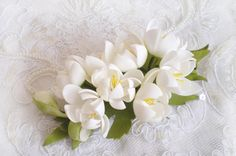 Wedding hair clips Hair combs Flower barrette by FloraFantasyIZ