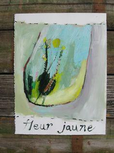 Fluer+Jaune+Original+oil+painting+on+artisan+by+BrookeWandall