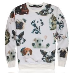 Wild 3D dogs sweatshirt for youth thin style autumn animal pullover