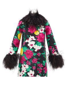 Ysl Heels, Black Silk, Anthony Vaccarello, Designer Dresses, Saint Laurent, Floral Prints, Women Wear, Cotton, Clothes