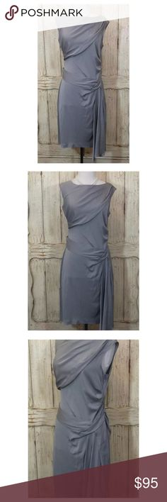 Diane von Furstenberg Gray Silk Jersey Dress Gorgeous Diane von Furstenberg gray silk jersey dress. Size 6. No flaws. Like new condition. Diane Von Furstenberg Dresses