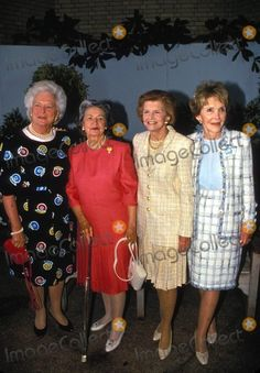 First Ladies Barbara Bush, Lady Bird Johnson, Betty Ford, and Nancy Reagan.