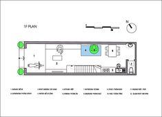 Casa Đàm lộc,Planta - Térreo Three Floor, Second Floor, Arch House, House Floor Plans, Townhouse, My Dream Home, Vietnam, Plane, Image 21