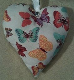 Butterfly Gift / Hanging Butterfly Fabric Lavender Bag - Handmade