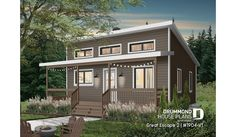 Small Cottage House Plans, Lake House Plans, Cottage Plan, Best House Plans, Small House Plans, Cottage Homes, Cabin Plans With Loft, Shed With Loft, Tiny House Village