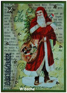 Wibsche - Christmas ATC; so vintage...