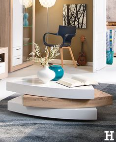 Moderner Beistelltisch Spin 45 Cm Weiss Couchtisch Tisch Hochglanz