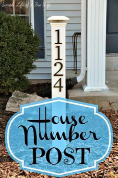 Simple Life of a Fire Wife: House Number Post I would not do jacket…numbers o… Simple Life of a Fire Wife: House Number Post I would not do jacket…numbers on 2 sides….solar light on top House Address, Address Signs For Yard, Address Numbers, House Front, Front Porch, Front Doors, Front Yards, Reno, Do It Yourself Home