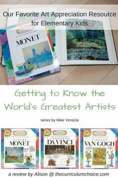 Getting to Know the World's Greatest Artists by Mike Venezia - this book series is a fun way to introduce elementary students to the masters! A great resource for art appreciation and artist study in your homeschool. Artists For Kids, Great Artists, Art For Kids, Famous Artists, Homeschool Curriculum Reviews, Art Curriculum, Homeschool Books, Preschool Art, Home Schooling