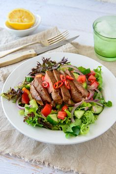 Tunisian Lemon and chilli beef salad
