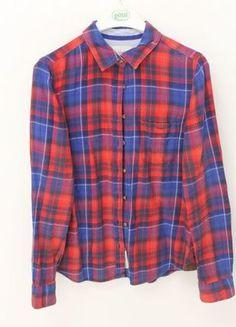 Kaufe meinen Artikel bei #Kleiderkreisel http://www.kleiderkreisel.de/damenmode/blusen/110648708-rot-blau-karierte-hemd-bluse