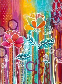 Raindrops Canvas Print / Canvas Art by Carla Bank Art Journal Inspiration, Painting Inspiration, Canvas Art, Canvas Prints, Art Prints, Acrylic Art, Diy Art, Flower Art, Watercolor Art
