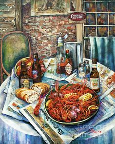 """""""Well, you get down the fiddle and you get down the bow, Kick off your shoes and you throw em on the floor. Dance in the kitchen 'til the morning light - Louisiana Saturday night"""" - but first we eat!"""