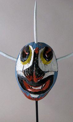 Traditional Vejigante Coconut mask  Loiza, Puerto Rico