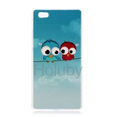 Colorful Printing Soft TPU Back Case for Huawei Ascend P8 Lite- Birds