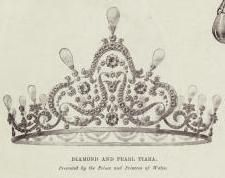 Pearl tiara of Princess Maud of Wales, Queen consort of Norway This pearl and diamond tiara was given to Queen Maud as a wedding present from her parents, King Edward VII and Queen Alexandra of the United Kingdom