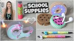 DIY School Supplies for Back-To-School // Lipstick USB, Yarn Pen & More! - YouTube