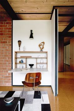 Joinery storage workspace fold up desk Small Space Solutions: The Wall Mounted Desk