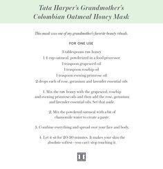 Tata Harper's DIY honey mask