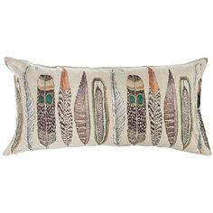 Find Large Feathers Lumbar and more decorative pillows at Coral and Tusk. Shop from the best embroidered linen accent pillows to add style and comfort to your home. Linen Pillows, Linen Fabric, Decorative Pillows, Throw Pillows, Scrap Fabric, Accent Pillows, Coral And Tusk, Pillow Dress, Large Feathers