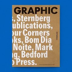 """drawdownbooks: """"Back in Stock! Graphic 30: Publishers / Available at www.draw-down.com / 204 pages. Interviews with ten publishing companies, along with information about their books, and copious photographs of various titles. These companies are all..."""