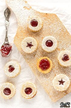 Lightly sweetened, filled with raspberry jam and dusted with powdered sugar, these Raspberry Linzer Cookies are popular Holiday Cookies! Raspberry Linzer Cookies Recipe, Linzer Tart, Plain Cookies, Heritage Recipe, Cherry Fruit, Toasted Almonds, Cupcake Cookies, Cupcakes, Holiday Cookies