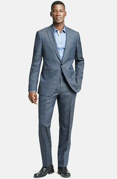 John Varvatos Collection 'Austin' Prince of Wales Wool Suit