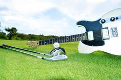 Which one of these gears would you golf with at #HardRockPC? 1.Club 2. Putter 3. Fender #HardRockGolf #RockAndGolf!
