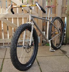 This is what's called a Monstercross. 1 part cyclocross, 1 part mountain bike, 2 parts RAAAAAWR. #fatbike #bicycle