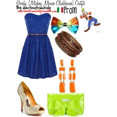 Goofy (Mickey Mouse Clubhouse) Prom Outfit, created by martinafromitaly on Polyvore