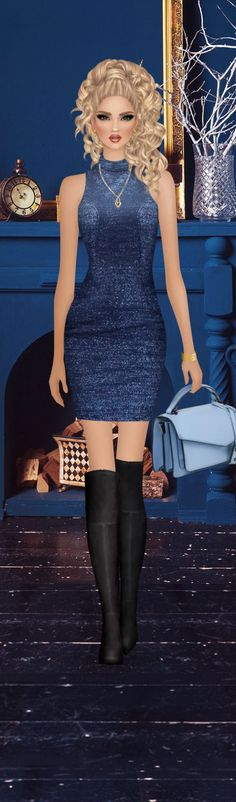 Fashion Dress Up Games, Covet Fashion Games, Fashion Dolls, Fashion Art, Fashion Dresses, Womens Fashion, Peplum Dress, Bodycon Dress, Beautiful Fantasy Art