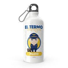 Termo - El termo del mejor piloto, encuentra este producto en nuestra tienda online y personalízalo con un nombre. Water Bottle, Drinks, Carton Box, Store, Crates, Drinking, Beverages, Water Bottles, Drink