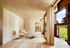 Image 1 of 11 from gallery of Timber Takes the Heat: What Every Architect Should Know About Wood Construction and Fire Protection. Photograph by José Hevia Architecture Renovation, Wood Architecture, Contemporary Architecture, Wooden Buildings, Unique Buildings, Barn House Conversion, Modern Family House, Wooden Barn, Weekend House