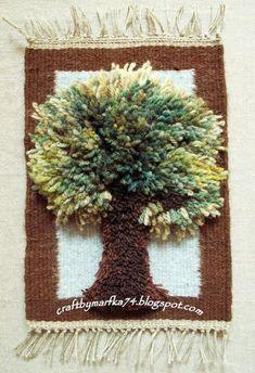 telares decorativos arboles - Buscar con Google Weaving Textiles, Tapestry Weaving, Loom Weaving, Hand Weaving, Textile Fiber Art, Textile Artists, Tapestry Crochet, Crochet Motif, Diy And Crafts