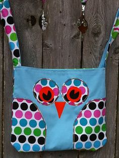 Owl Bag - love the dots