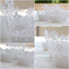 Cup Cake Wrapper, Windlichter, Candle holder, Papier www.beadsdesignlove.blogspot.de
